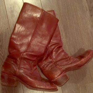 Vintage Red Riding Boots